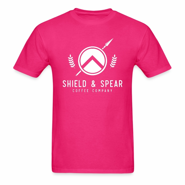 Shield and Spear White Logo