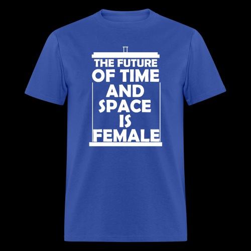tardis_female_white - Men's T-Shirt