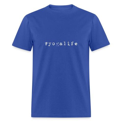 Yogalife Hastag Design - Men's T-Shirt