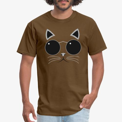 Hipster Cat T-Shirt - Men's T-Shirt