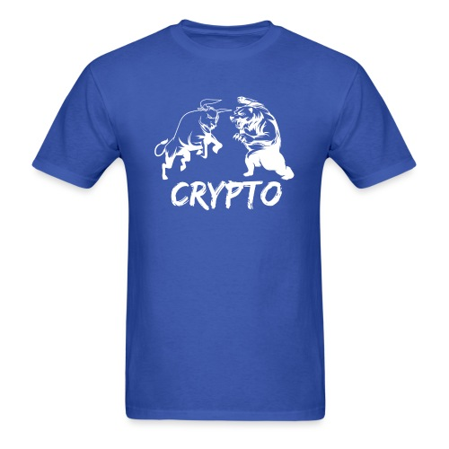 CryptoBattle White - Men's T-Shirt