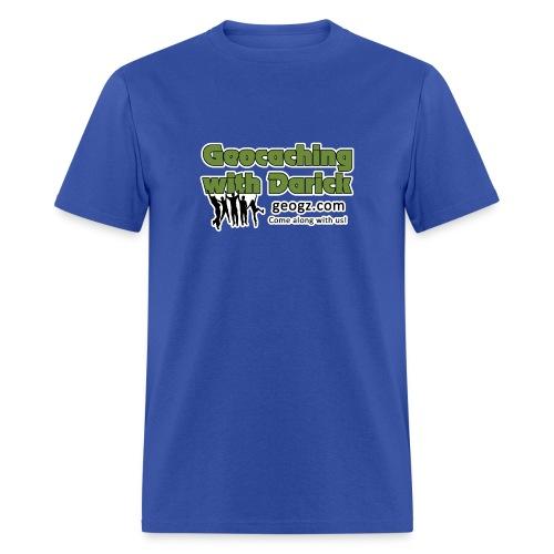 GeoDarick - white outline - Men's T-Shirt