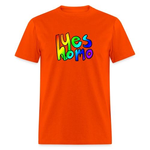 Yes Homo (Rainbow) - Men's T-Shirt
