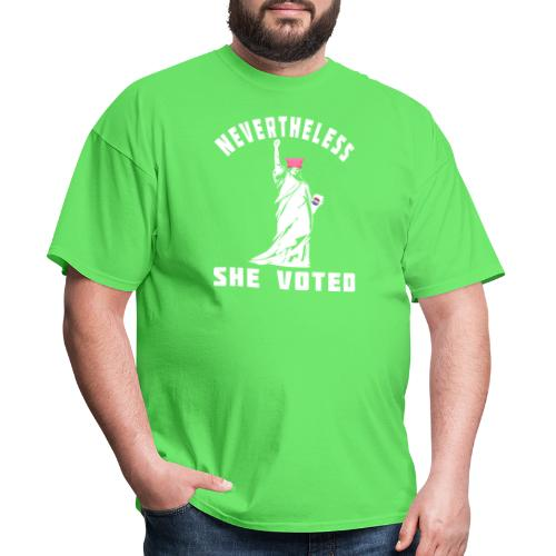 Nevertheless She Voted Pink Hat Lady Liberty - Men's T-Shirt
