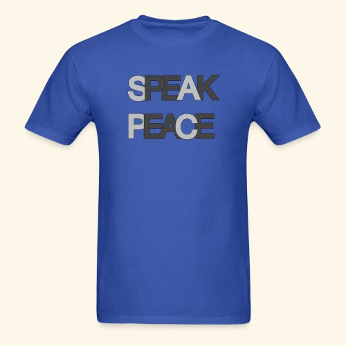 SPEAK PEACE L/D GREY #4 - Men's T-Shirt