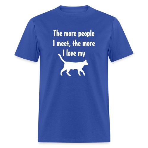 I love my cat - Men's T-Shirt