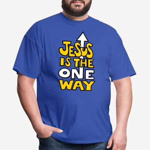 JESUS IS THE ONE WAY - Men's T-Shirt