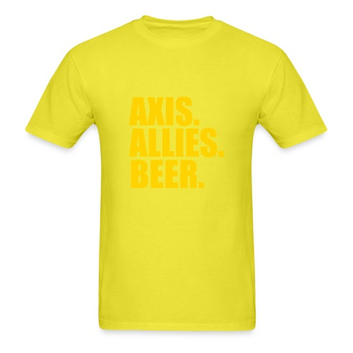 Axis. Allies. Beer. Axis & Allies - Men's T-Shirt