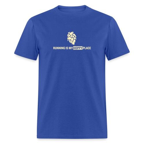 Running is my Hoppy Place - Men's T-Shirt