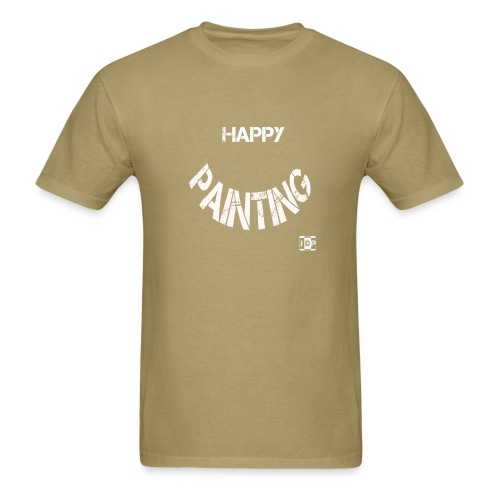 Happy Painting with Logo - Men's T-Shirt