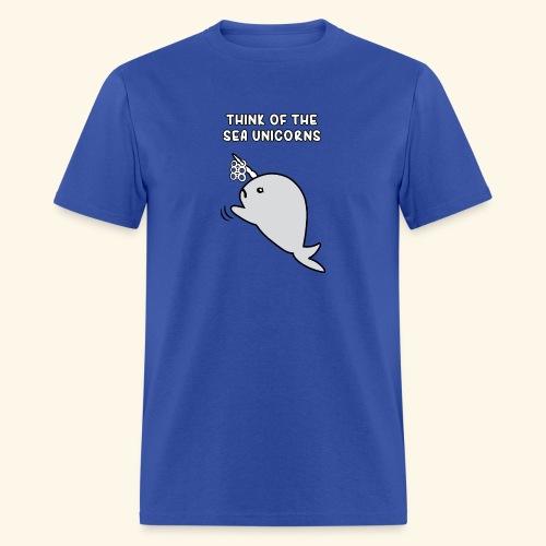 Think of the Sea Unicorns - Men's T-Shirt
