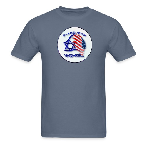 Stand With Israel - lettered Circle - Men's T-Shirt