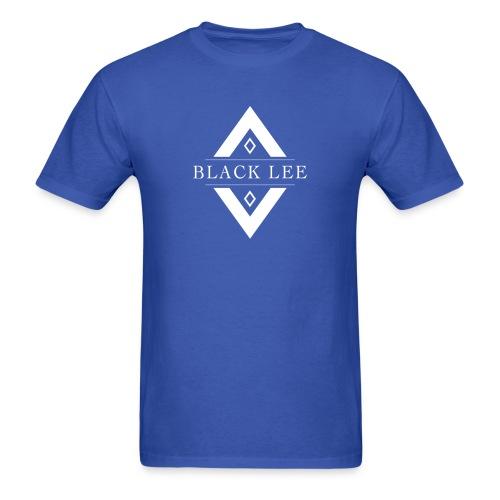 Black Lee Transparent Logo White T SHIRT - Men's T-Shirt