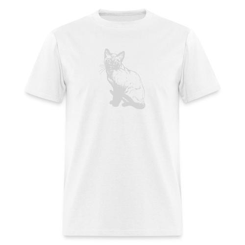 grey siamese png - Men's T-Shirt