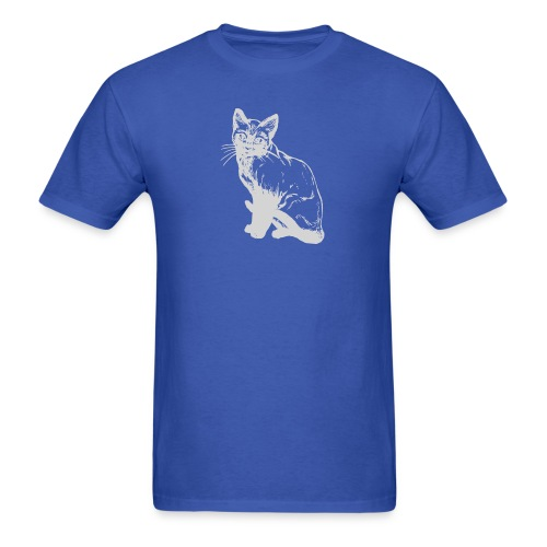 grey siamese png - Men's T-Shirt