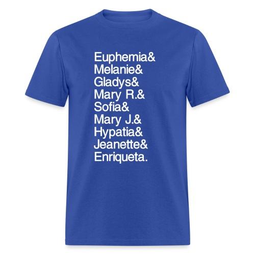 Math Gals 1sts with #MathGals hashtag - Men's T-Shirt
