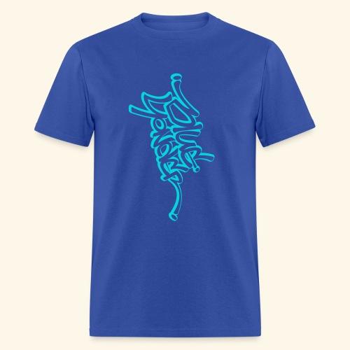 BY full vert blu white - Men's T-Shirt