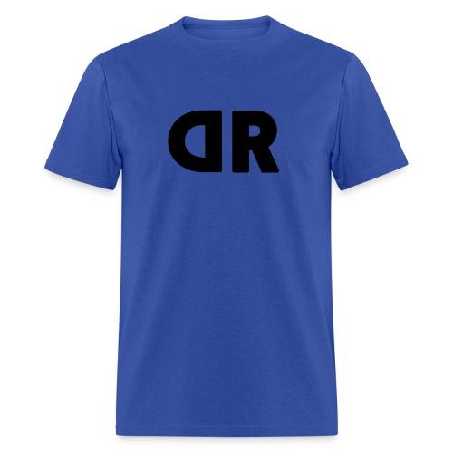 DUBBRICHARD BLACK ON BLUE - Men's T-Shirt