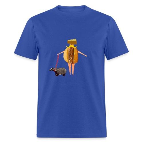 Wisconsin fan Brat, Cheese and Badger Pet - Men's T-Shirt