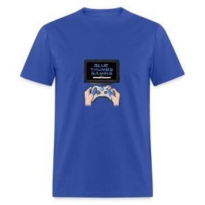 Blue Thumbs Gaming: Gamepad Logo - Men's T-Shirt