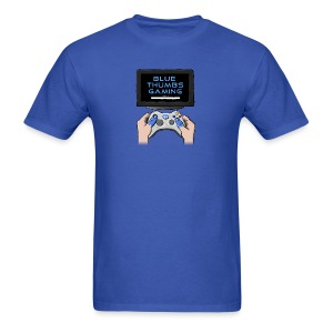 Blue Thumbs Gaming: Gamepad Logo - Men's T-Shirt