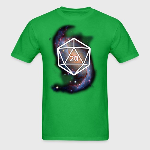 Astronomy Geek d20 Galaxy - Men's T-Shirt
