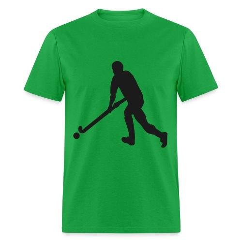 FieldHockeyMaleSilhouette - Men's T-Shirt