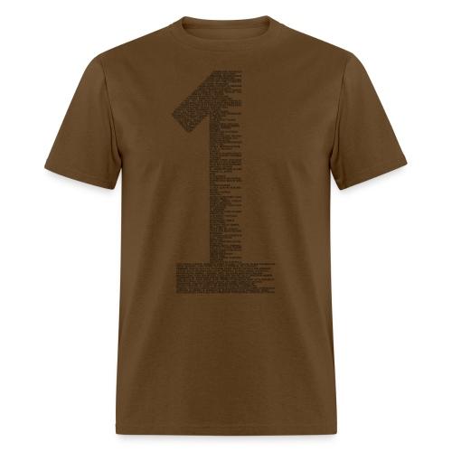 One black - Men's T-Shirt