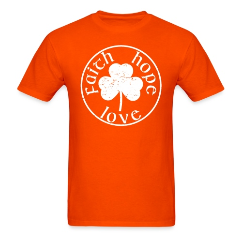Irish Shamrock Faith Hope Love - Men's T-Shirt