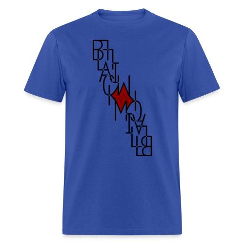 Downside up black - Men's T-Shirt