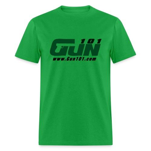 Gun101 T-Shirt w/ Green logo - Men's T-Shirt