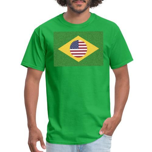 Brazil and USA Flag - Men's T-Shirt