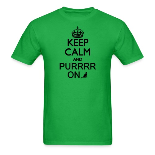 Keep Calm and Purrr On - Men's T-Shirt