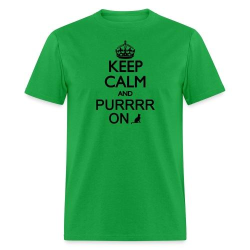 Keep Calm and Purrr On - Men's T-Shirt