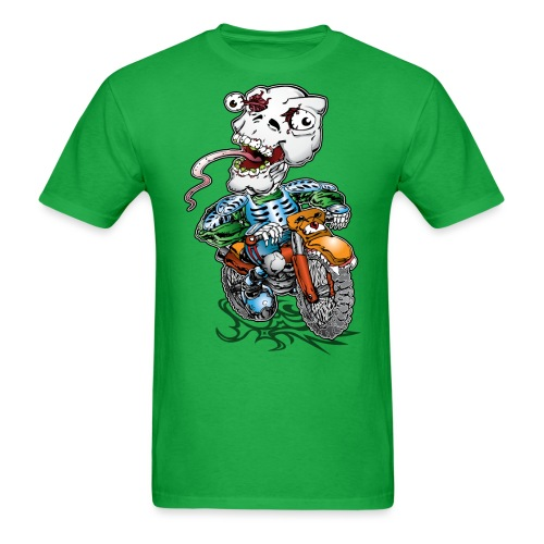 Skull-Tongued Dirtbiker - Men's T-Shirt