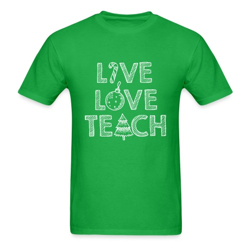 Live Love Teach Christmas Teacher T-Shirt - Men's T-Shirt