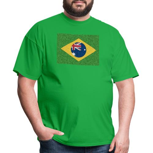 Brazil flag with Australia Twist - Men's T-Shirt