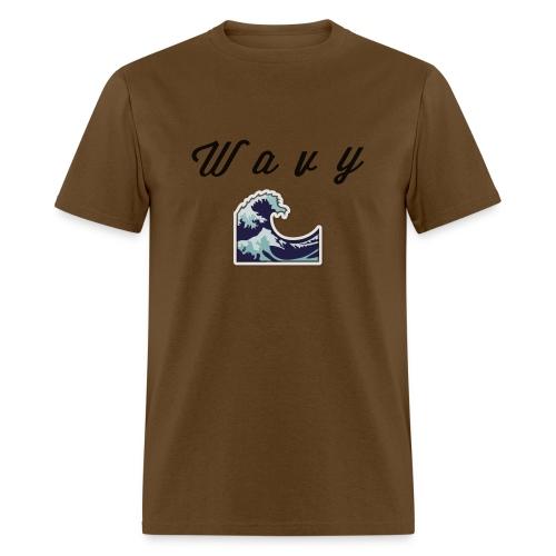 Wavy Abstract Design. - Men's T-Shirt