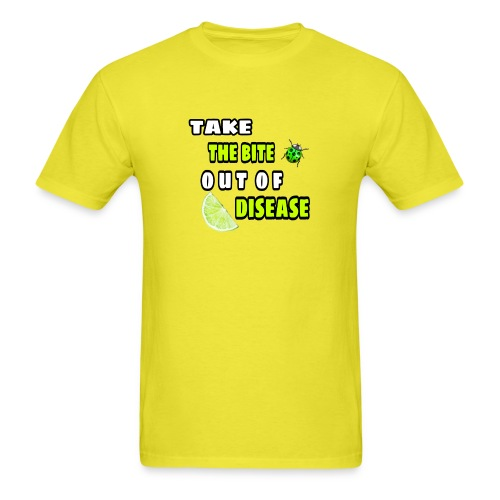 Take the bite out of Lyme's Disease - Men's T-Shirt