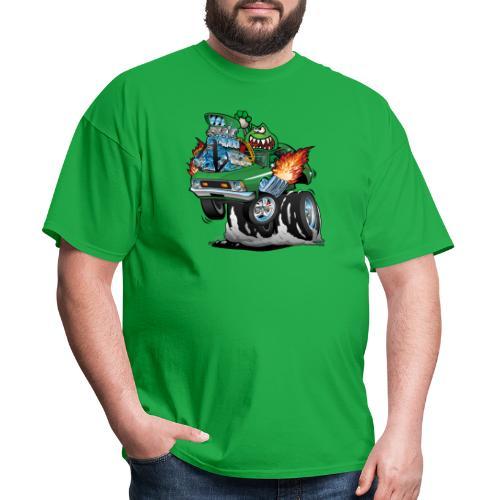 Seventies Green Hot Rod Funny Car Cartoon - Men's T-Shirt