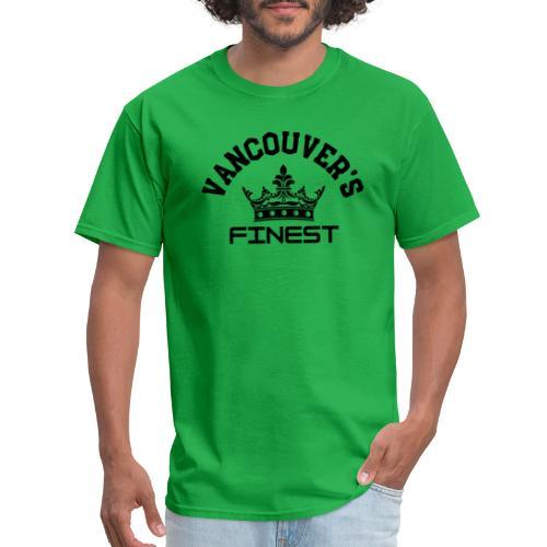 Vancouver's Finest Black Print - Men's T-Shirt