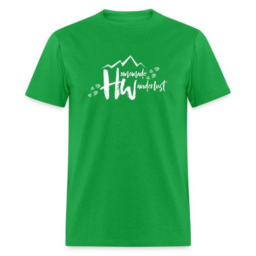 White HW Logo - Men's T-Shirt