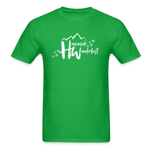 White HW Logo - Men's T-Shirt