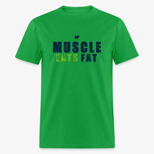 Muscle Eats Fat (Seahawks Blue) - Men's T-Shirt