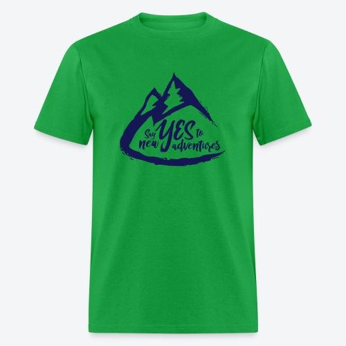 Say Yes to Adventure - Dark - Men's T-Shirt