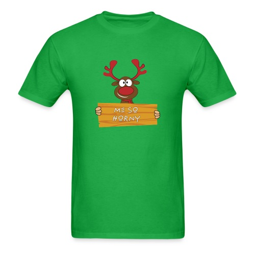 Red Christmas Horny Reindeer 9 - Men's T-Shirt