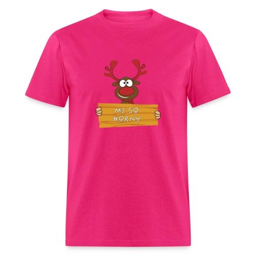 Red Christmas Horny Reindeer 9 - Men's T-Shirt