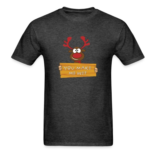 Red Christmas Horny Reindeer 8 - Men's T-Shirt