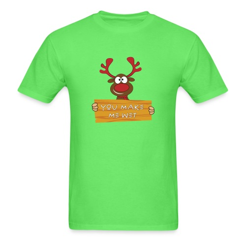 Red Christmas Horny Reindeer 8 - Men's T-Shirt