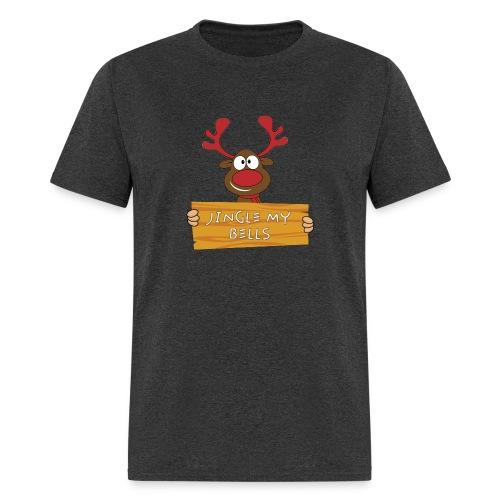 Red Christmas Horny Reindeer 7 - Men's T-Shirt